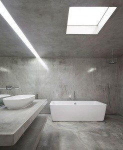 Badkamer van beton