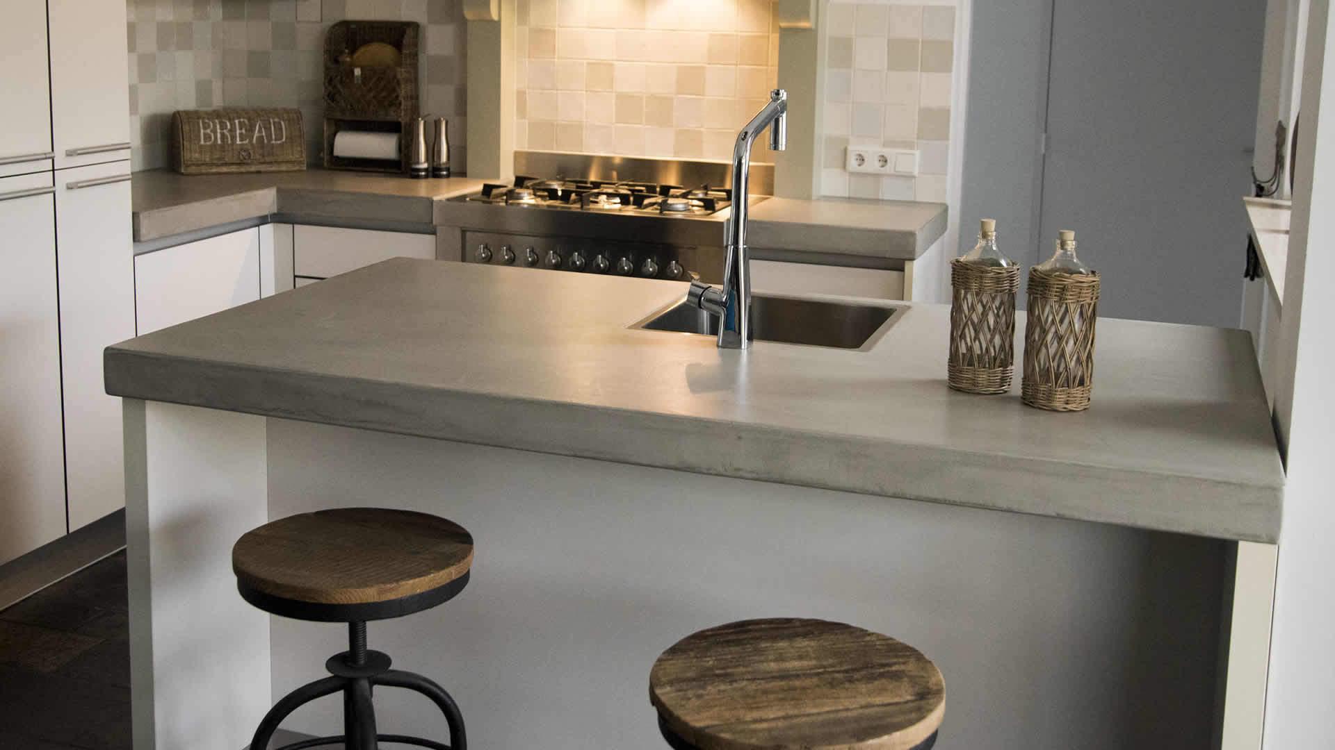 Beton Cire Keuken : Beton ciré keuken in leidschendam door betoncirevakman