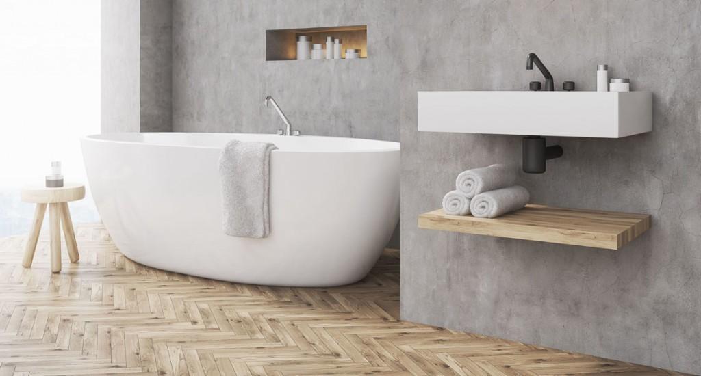 5 tips voor de mooiste betonlook badkamer - Kleur idee ruimte zen bad ...