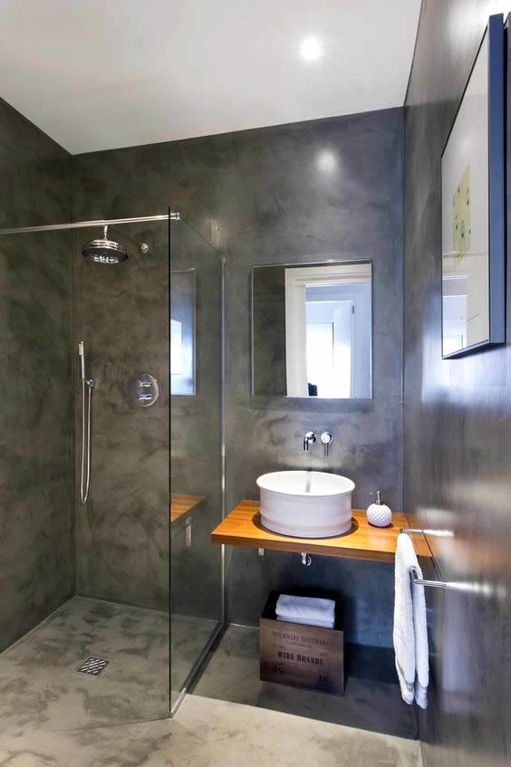 betonlook badkamer met een exclusieve uitstraling. Black Bedroom Furniture Sets. Home Design Ideas