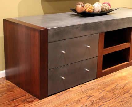 TV meubel met betonlook