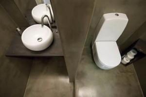 betonlook horeca-toilet