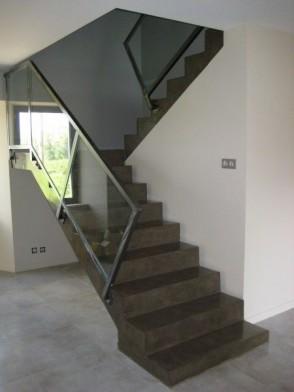 Betonlook trappenhuis