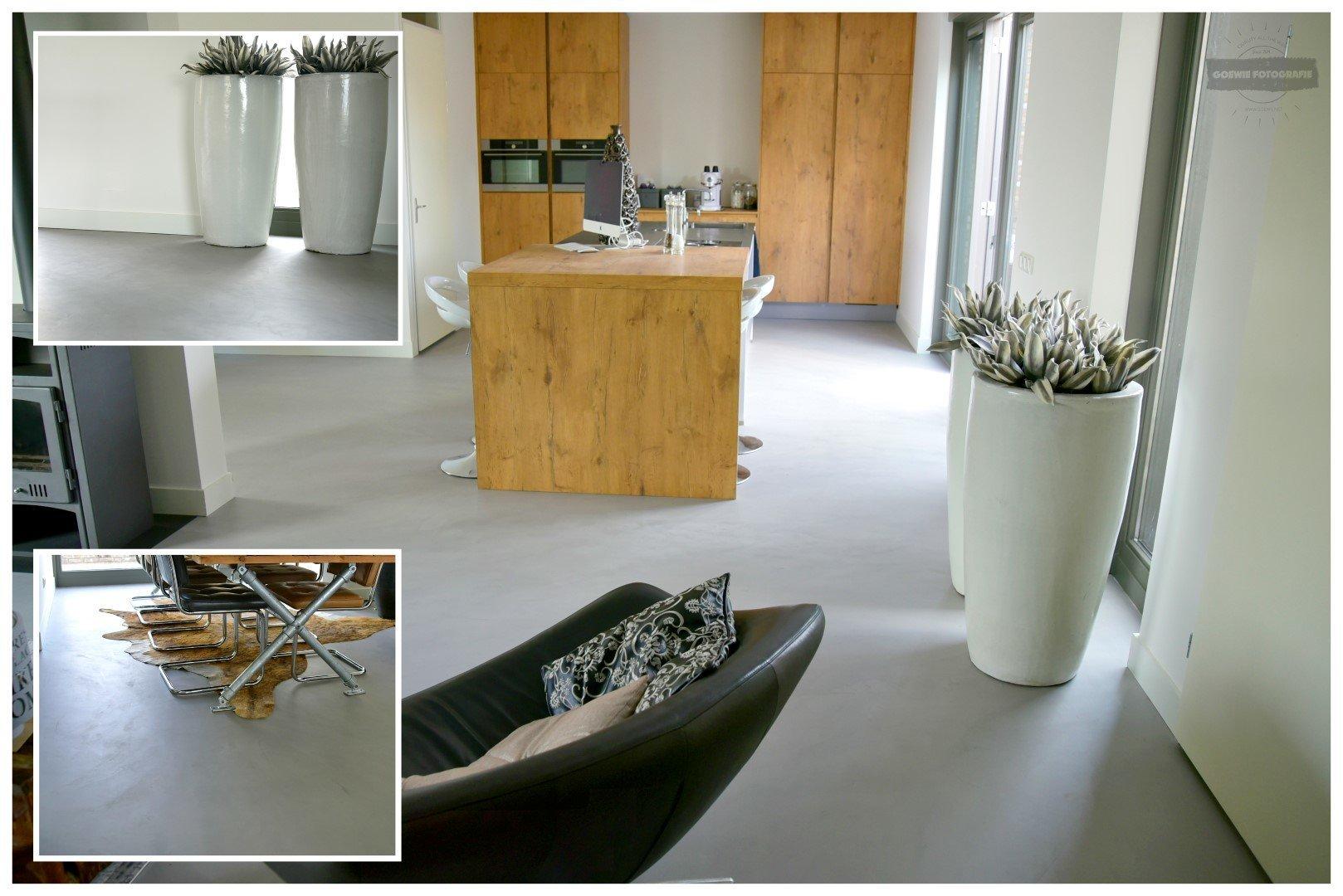 Beton de luxe betonlook vloeren muren en meubels met woonbeton