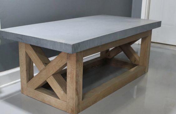 Betonlook tafelblad afwerking