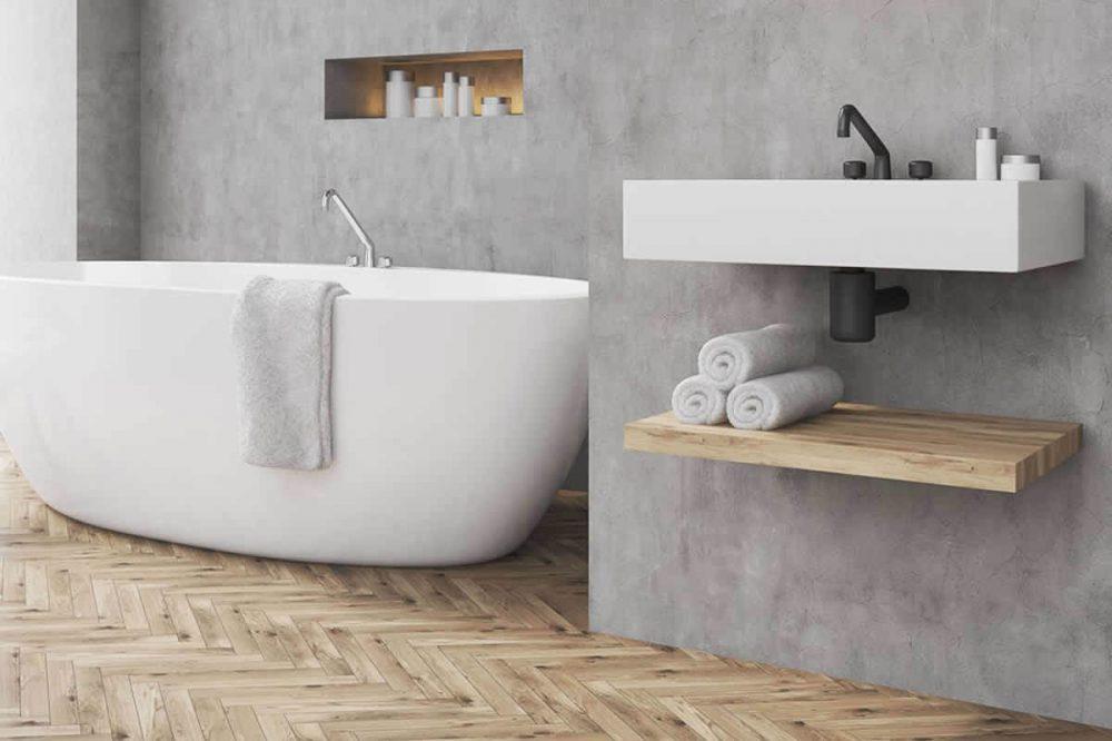 Badkamer Beton Cire : Tips voor de mooiste beton ciré badkamer