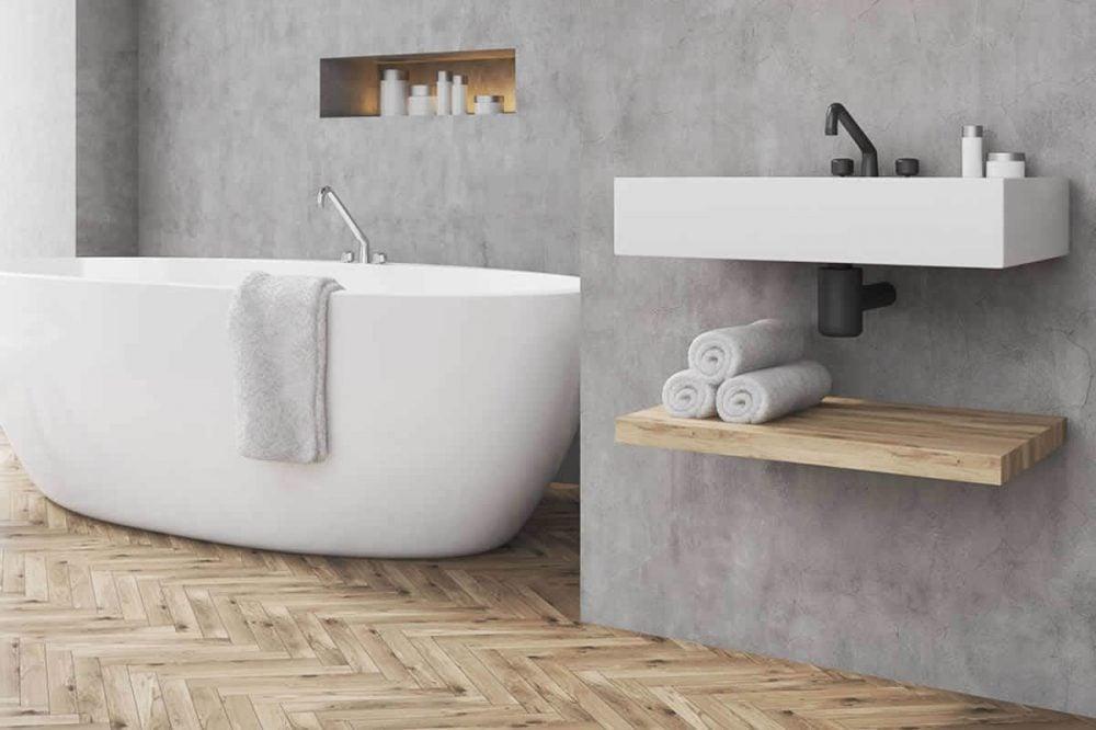 Gestucte Muur Badkamer : Tips voor de mooiste betonlook badkamer