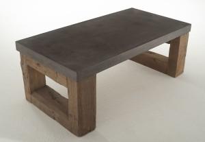 Eikenhouten tafel met betonlook